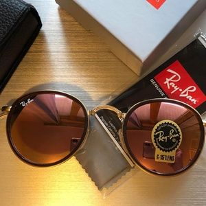 New Authentic Ray-Ban RB3517 ROUND FOLDING